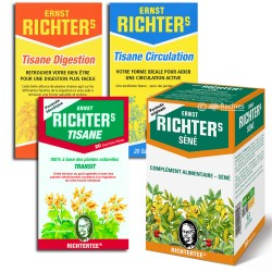 Tisane Richter's Pack Découverte - Transit - Séné - Digestion - Circulation