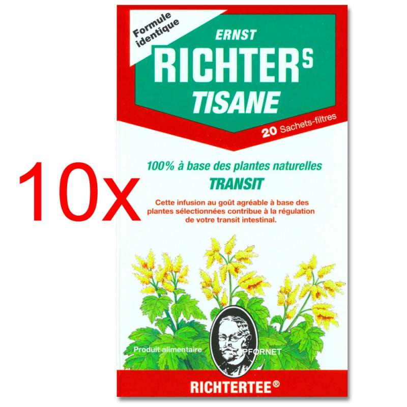 Pack de 10 Tisanes Richter's Transit